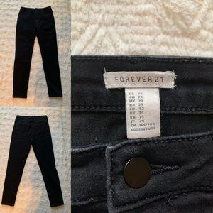 Forever 21 Black Faded Skinny Jeans